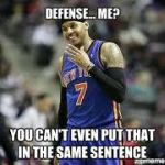melo defense jokes