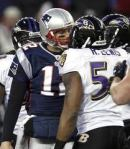 Ray Lewis and Tom Brady AFC Championship