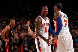 jr smith and carmelo anthony new york knicks
