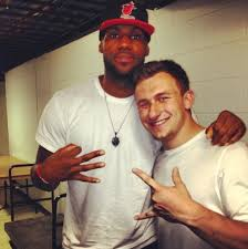 johnny football and lebron