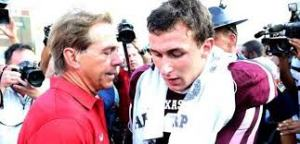 johnny manziel and nick saban