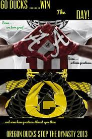 oregon ducks we want bama