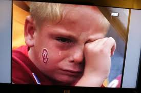 sooner fan crying